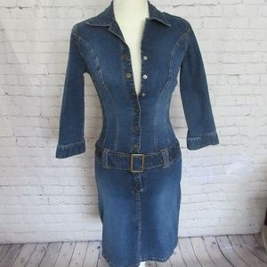 JLO by Jennifer Lopez Denim Dress Form Fitting